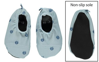 Smafolk slip stop shoes - mini appels blauw
